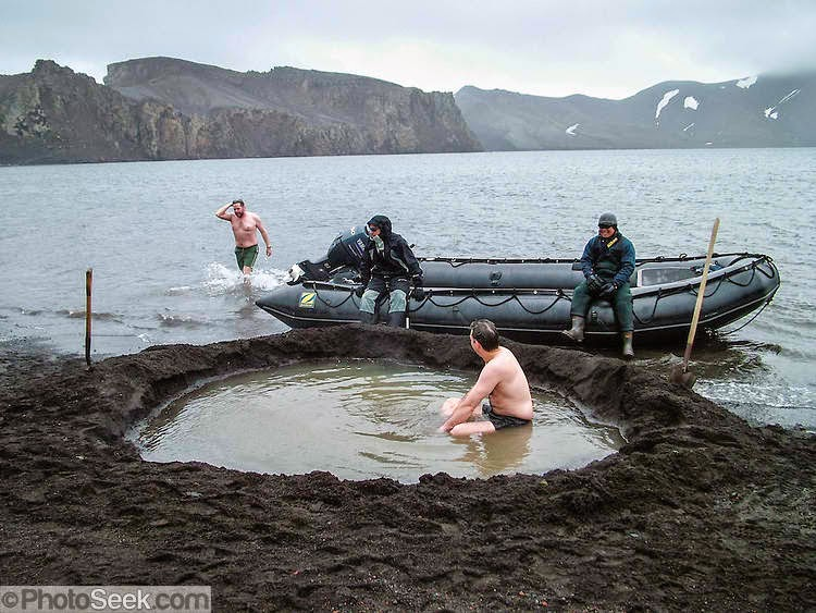 Swim in Antarctica's Deception island hot spring