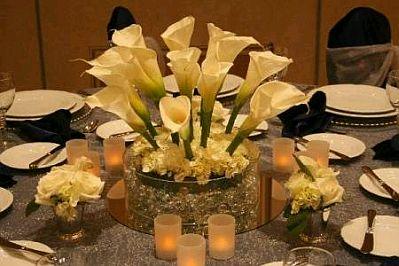 Decoraci n de bodas salones decorados de - Centros de mesa de comedor originales ...