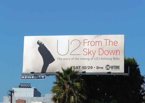 U2 From the sky down Showtime billboard