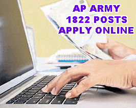 AP Army Recruitment 2015 for 1822 Vacancies Apply Online, Andhra Pradesh Army Recruitment Notification 2015, Government Jobs in AP, Indian Army AP Army 1822 Vacancies District wise list, AP Army Recruitment for 13 districts candidates, Latest Jobs in AP Army 1822 Vacancy Recruitment 2015