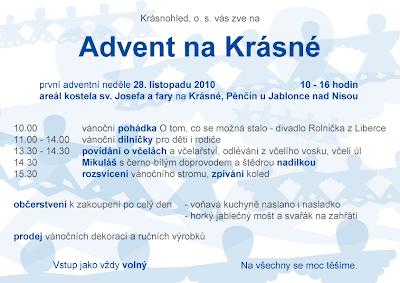 Advent na Krásné 2010 - plakát