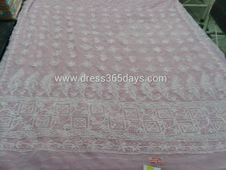 Pink Designer Mukesh lucknowi Kurti +Dupatta Material