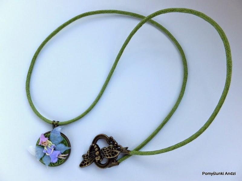 polymer clay, fimo, premo, fairy, wróżka, wisiorek, pendant,