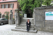 Respite on old stone steps.