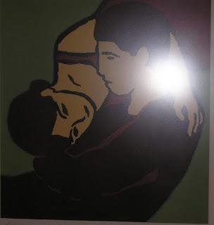 Obra de Santiago Gaban, Grabado titulado: Amantes