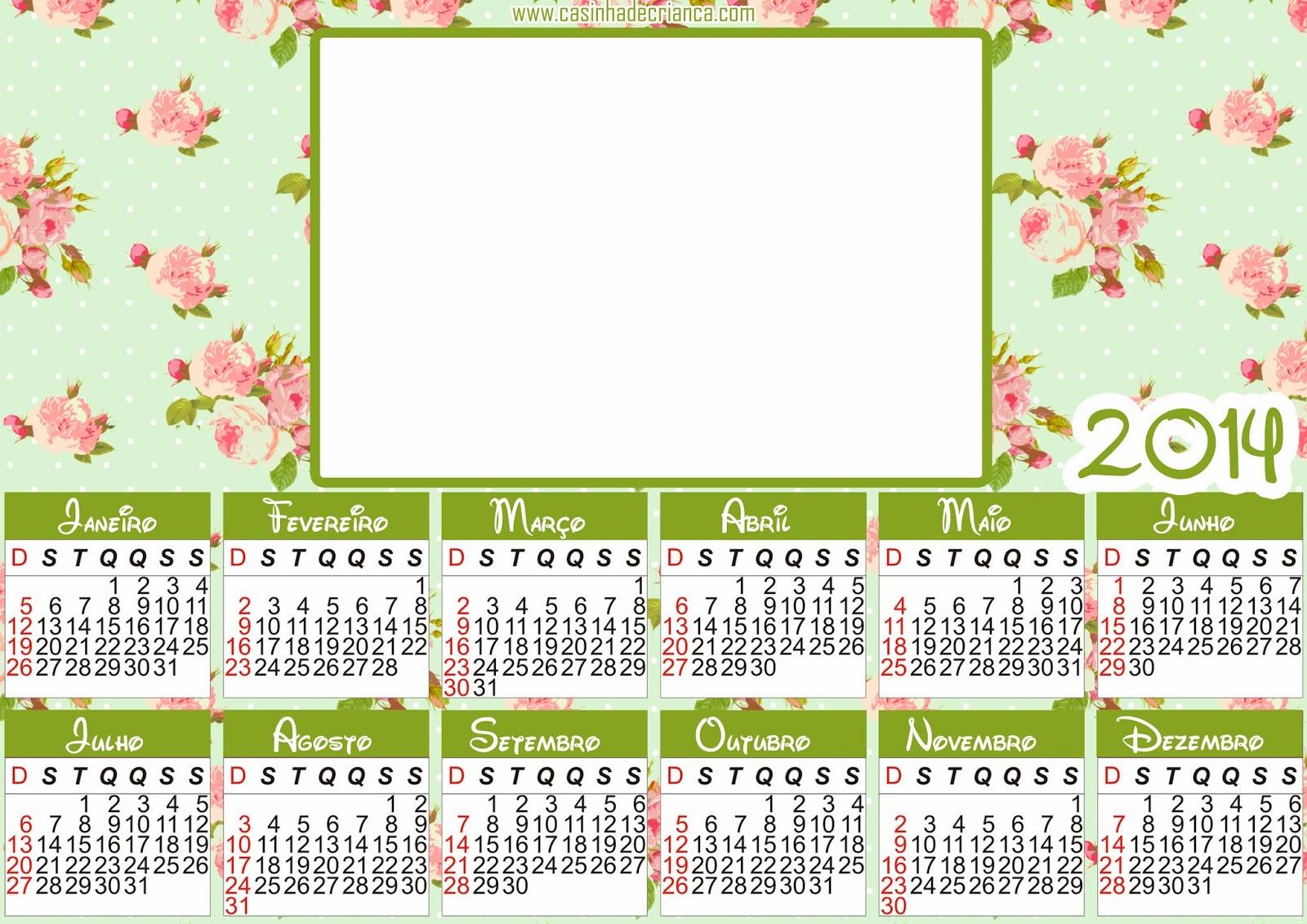 calendario floral 2014