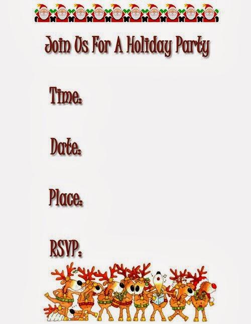 Beautiful Christmas Invitation Templates Free To Printable