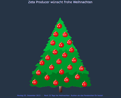 Zeta Producer Adventskalender