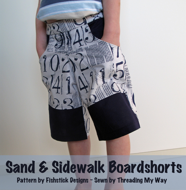 Sand and Sidewalk Boardshorts Pattern Review.... pattern by Fishstick Designs ~ Threading My Way