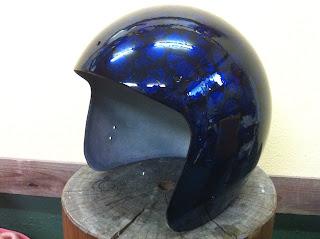 1029113099 - カスタムペイント工程  ジェットヘルメット スカル クリアースピニング