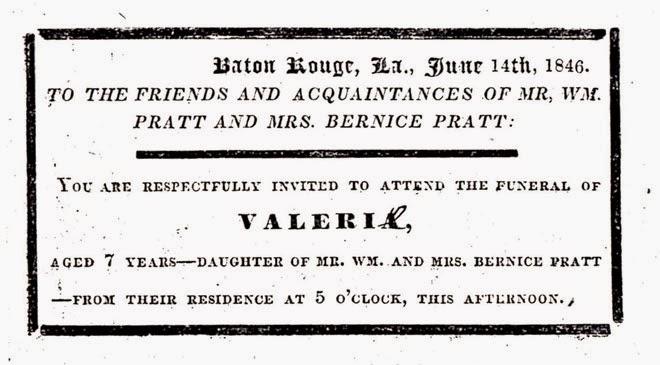 Valerie Pratt funeral notice 1846, belletisdale.blogspot.com