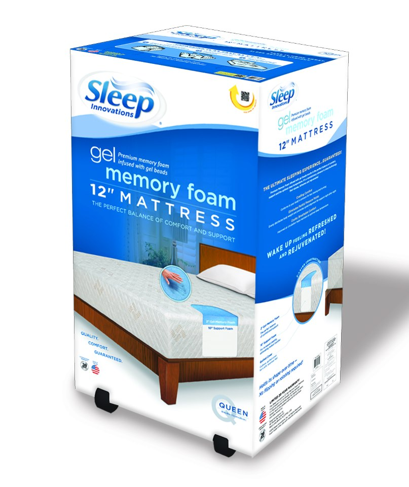 memory foam mattress topper box