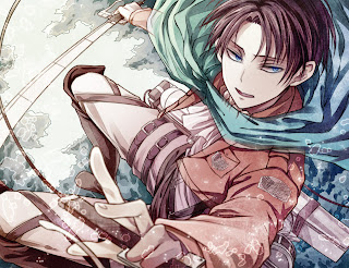 Attack on Titan Shingeki no Kyojin Rivaille Levi Anime Sword Blade HD Wallpaper Desktop PC Background
