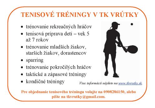 TENISOVÉ TRÉNINGY