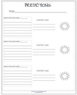 photo of predictions free pdf  reading strategies Teacher Park