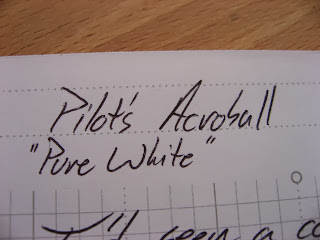 Pilot Pen Acroball ballpoint Pure White Review