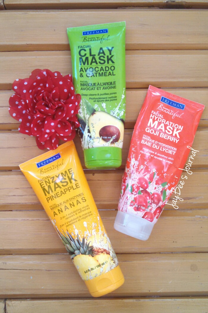 Pakistani beauty blogger, dry skin blog, freeman pineapple enzyme mask, freeman goji berry mask, freeman avocado and oatmeal mask