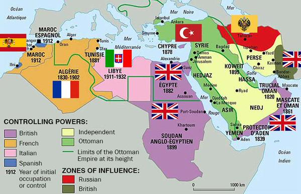 What the Middle East looked like in 1914
