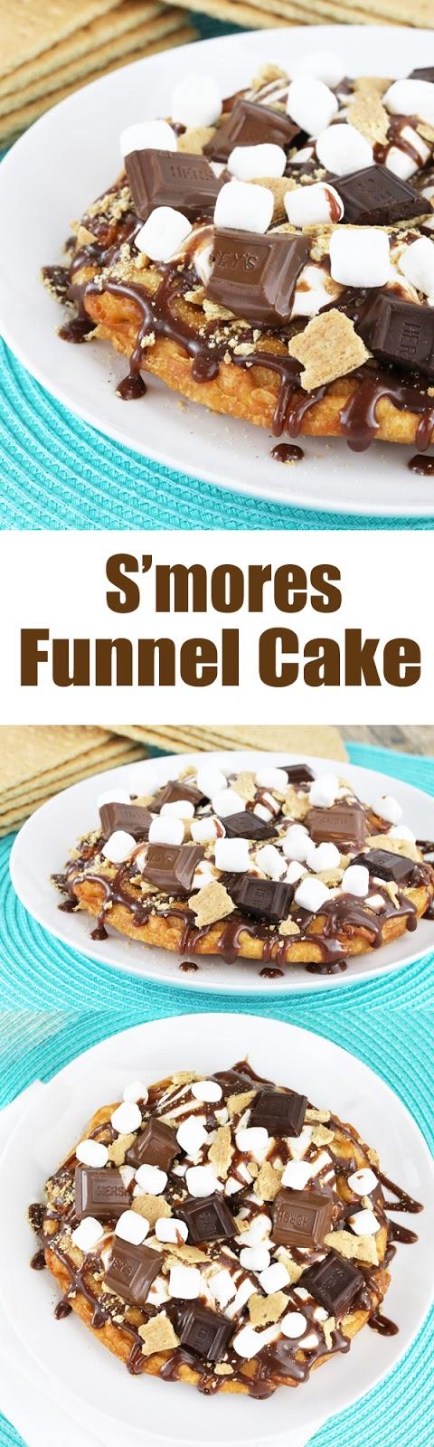 Smores Funnel Cake
