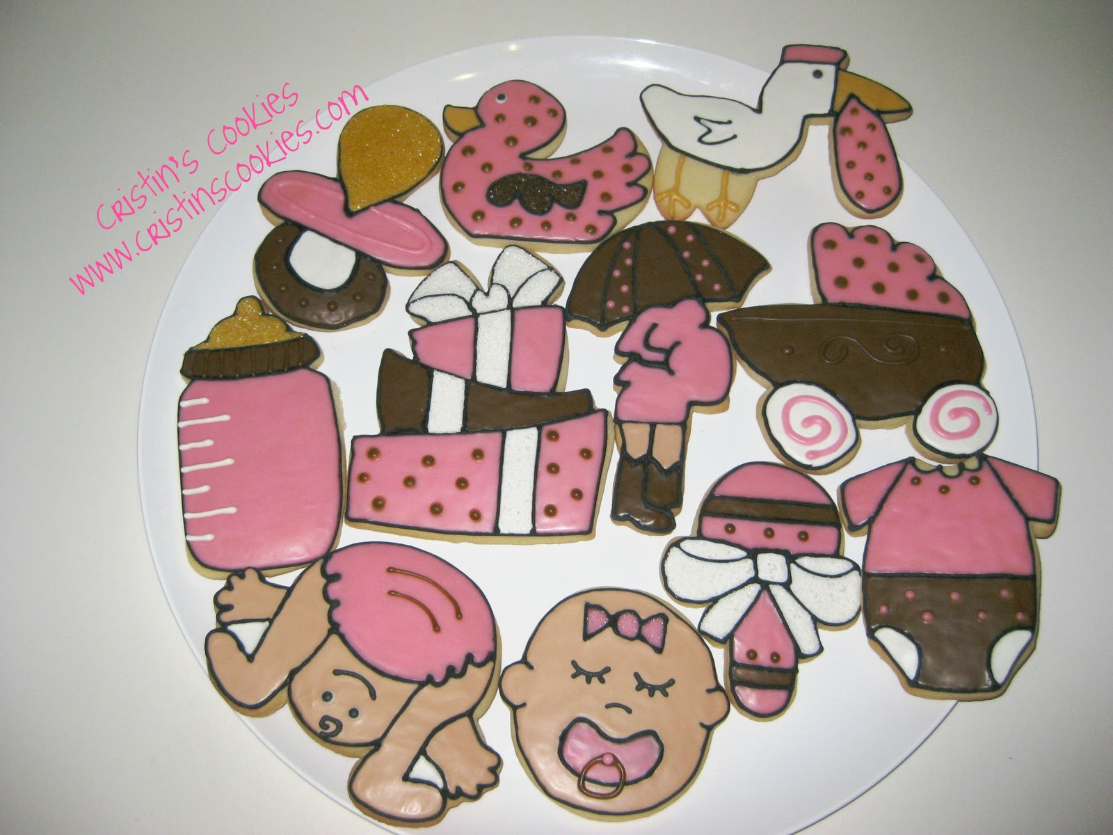 Cristin s Cookies Baby Shower Cookies for a Girl
