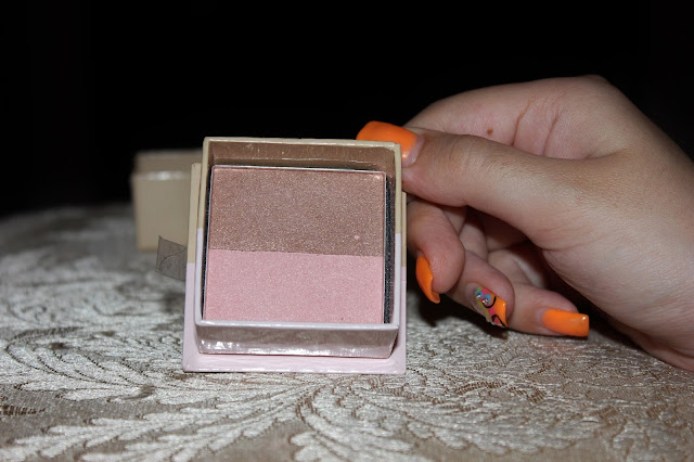 W7 double act blusher bronzer/ benefit dupe swatch