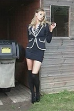 Totty Elle dared to strip naked in the caretakers shed - St Mackenzies