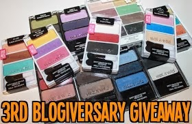 3rd Blogiversary Giveaway: Wet n Wild Eyeshadows