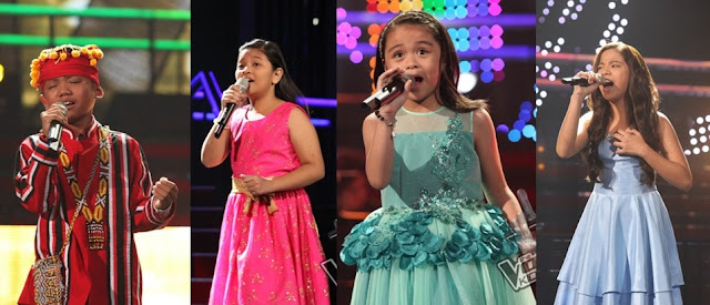Reynan, Elha, Esang and Sassa enter 'The Voice Kids' Grand Finals
