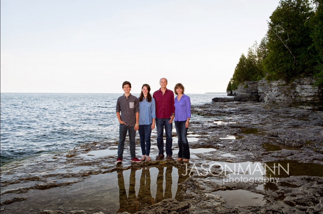 Door County Family Portraits Outdoor at Cave Point, Lake Michigan