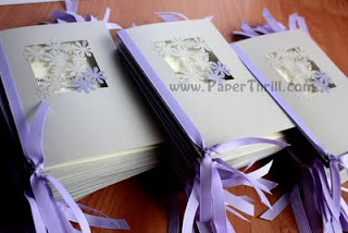 Paper lace floral wedding invitation card