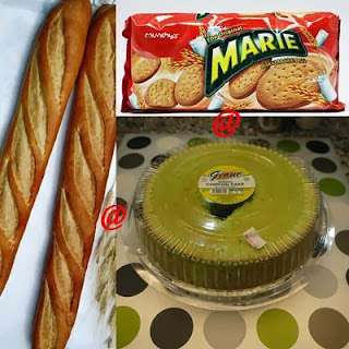 Roti perancis, biskut marie atau kek sponge
