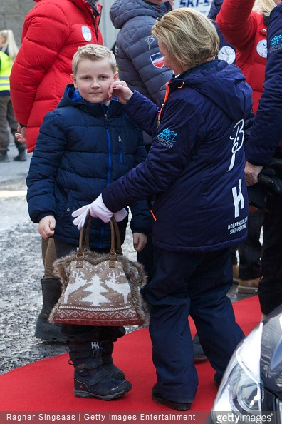 Prince Sverre Magnus of Norway and Queen Sonja of Norway attend the FIS Nordic World Cup