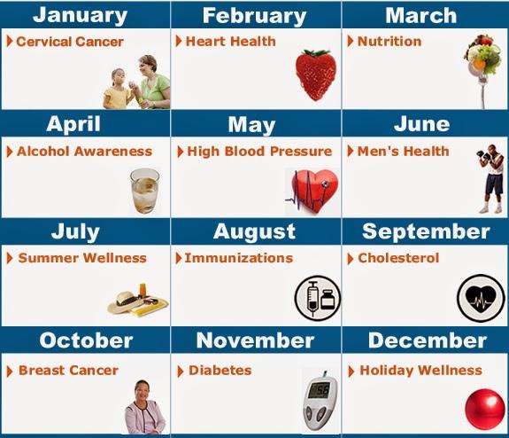 Calendar Year Health Insurance : Scheer memorial hospital january health calendar
