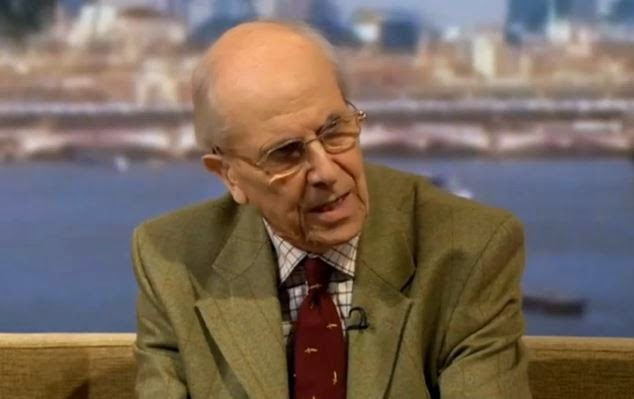 "Norman Tebbit, British politician: ""People thought the establishment was to be protected."" (Screen capture 0from YouTube video)"