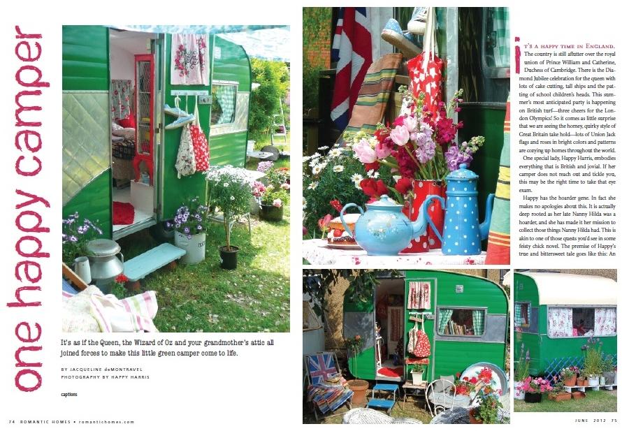 Romantic Homes Mag & Happy's Vintage Caravan