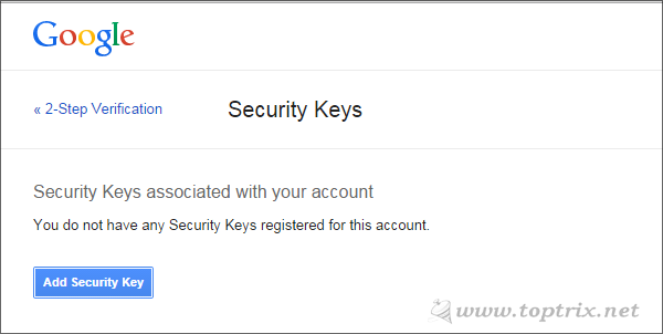 remove security key associated with your google account