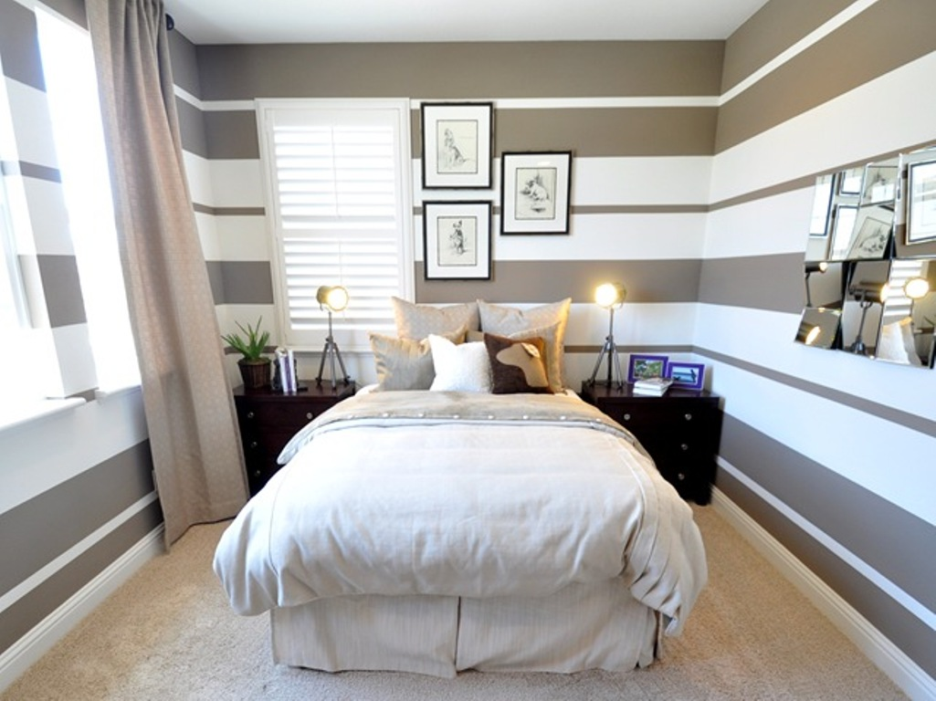 Bedroom paint ideas stripes -  Ideas Gorgeous Kid Bedroom Edmonton Interior Decorator Design Trend Striped Walls