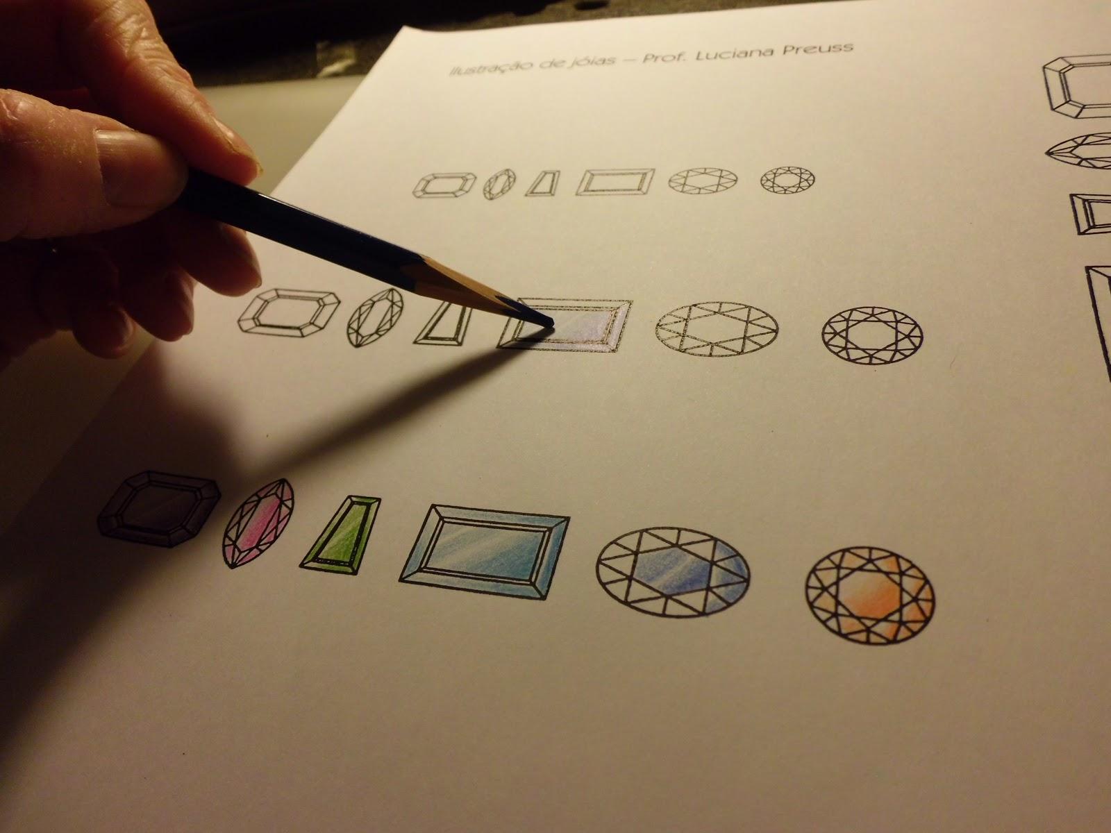 Atelier Luciana Preuss: Aprenda a desenhar gemas!