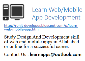 Learn web and mobile app