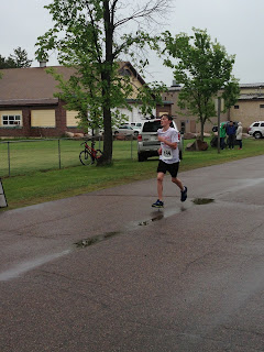 Image: Connor finishing his first half-marathon.