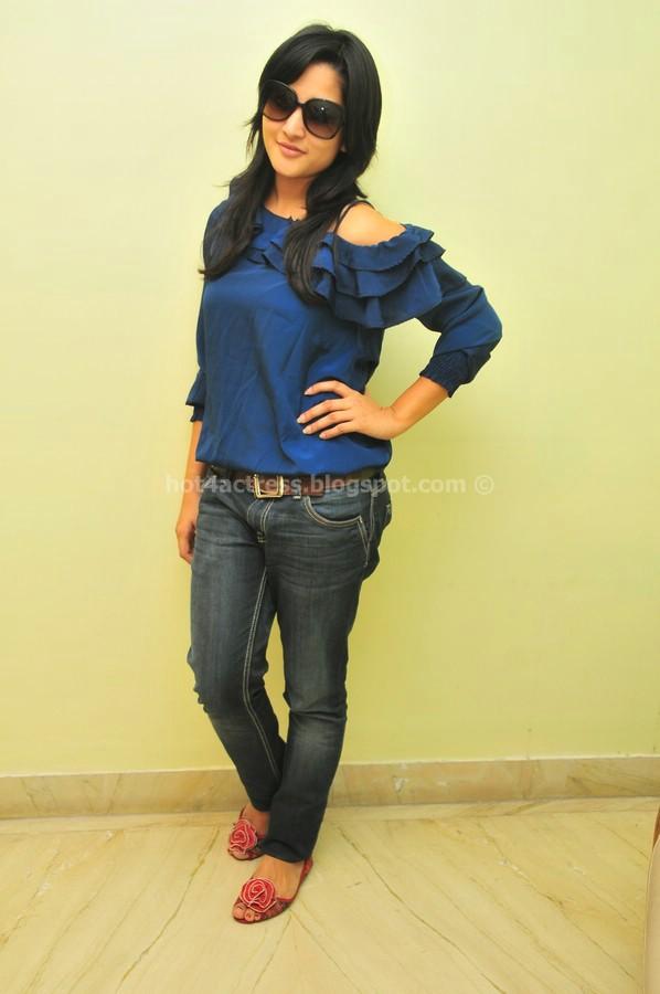 Rithu barucha latest hot photo shoot stills in blue dress