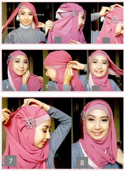 Model Hijab Segiempat Paris untuk acara resmi dan non-formal