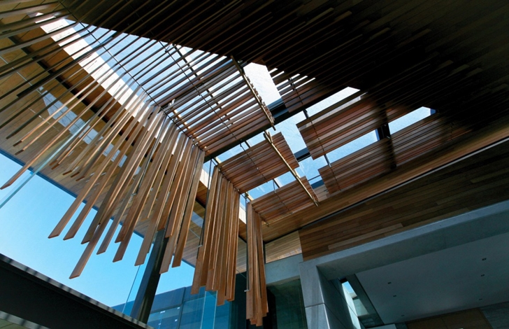 Wooden ceiling design in Cove 3, modern dream home by SAOTA