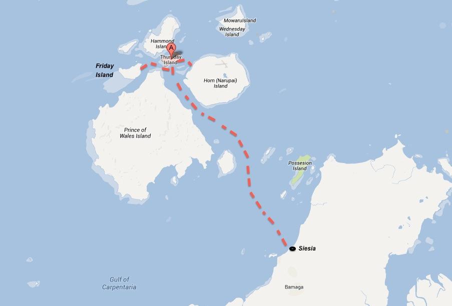 Torres Strait Islands Map Torres Strait Islands