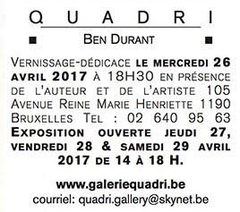 EXPOSITION Jacques LACOMBLEZ  Georges-Henri MORIN 'LE CHANSONNIER' GALERIE QUADRI, BRUXELLES