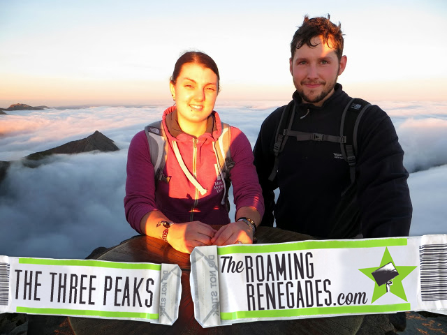 3 peaks challenge, top of snowdon, sunset!