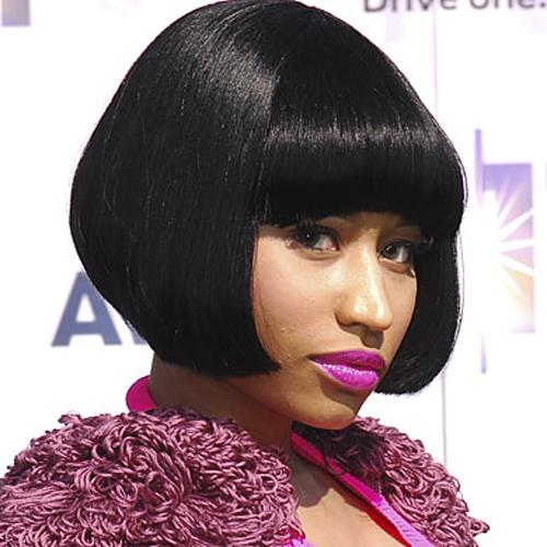 Nicki Minaj fringe hairstyle - Flapper Girl Fringe