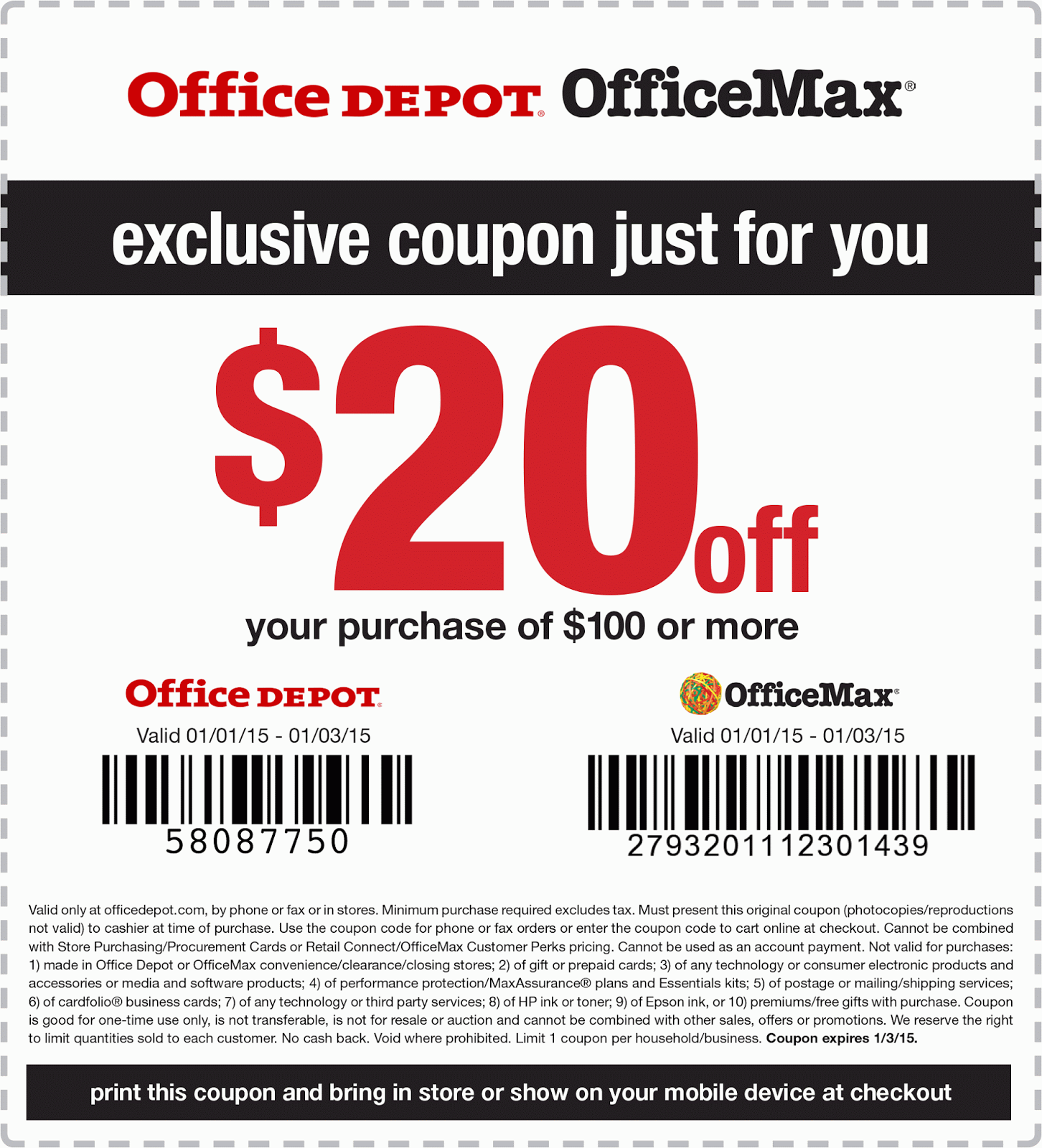 Office Depot and Office Max have merged into one company to bring shoppers low prices on office supplies, paper, ink & toner, technology, office furniture and more. Save up to 30% off your order with today's factorshuf.tk coupon codes and printable coupons.