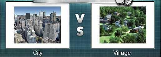 Comparison between Village and city life, kiramatthan nagaratthan, Graamam, kiramam vs Nagaram comparison