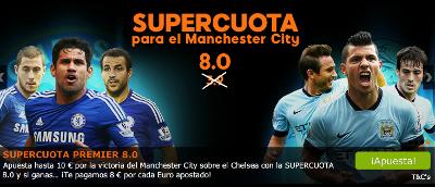 888sport super cuota Manchester City cuota 8 gana Chelsea 31 enero